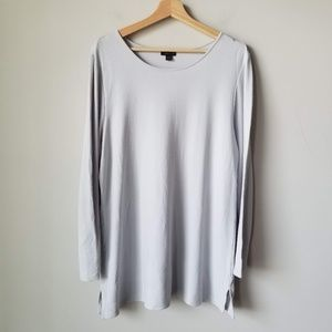 J Jill Wherever Collection White Long Sleeve Shirt
